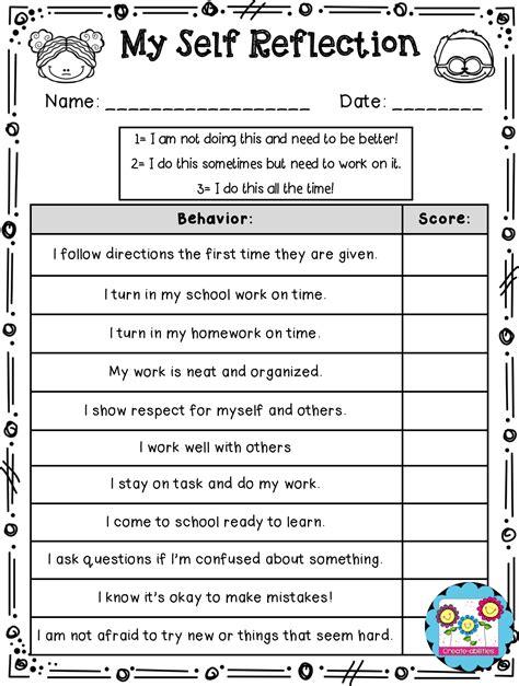student behavior self reflection create abilities september 2014