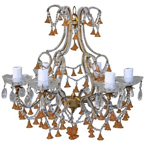 colored chandeliers six light colored murano glass chandelier for sale at 1stdibs