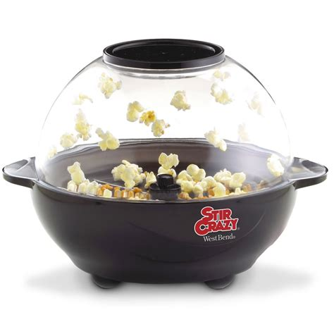 corn maker non stick automatic electric popcorn popper corn stir pops 6 quart ebay