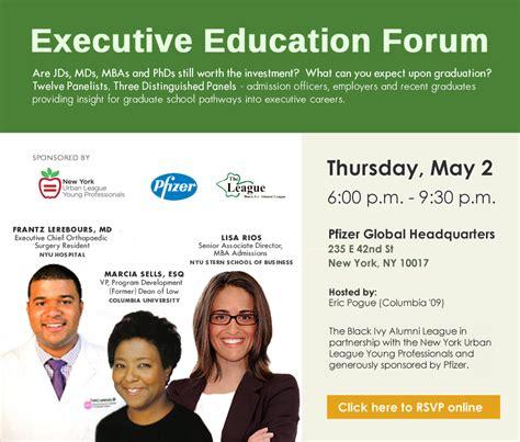 Pfizer Mba Intern Salary by Executive Education Forum The Black Alumni League