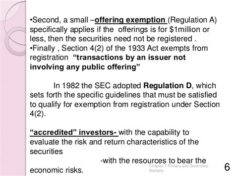 Securities Act Of 1933 Section 4 by Primary And Secondary Markets