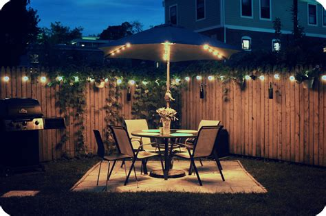 backyard lights paint the night with light adding some summer shine
