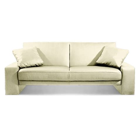 Sofa Bed White Leather White Faux Leather Sofa Bed