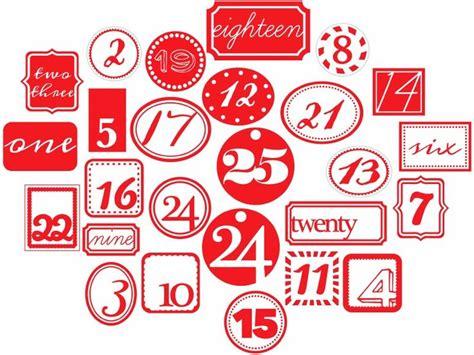 free printable advent calendar numbers 20 best advent calendar numbers images on pinterest