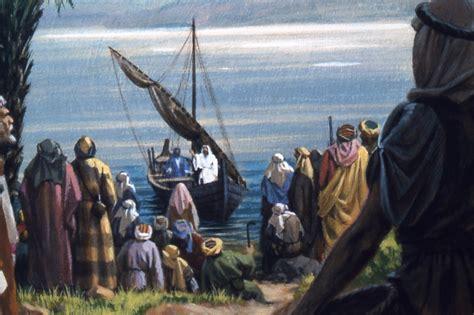 rock the boat jesus pressing the shore the path