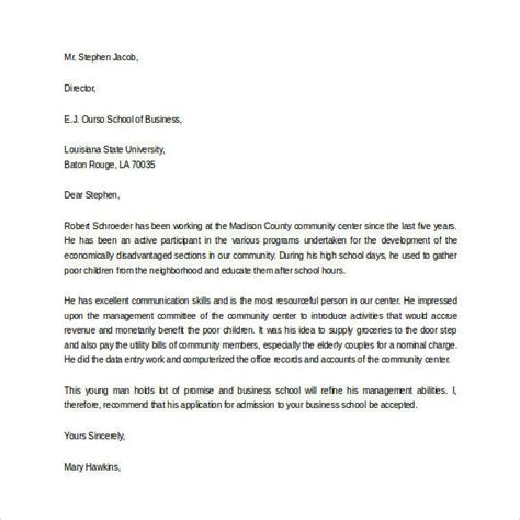 Letter Of Recommendation Middle School Student letter of recommendation for student 35 free
