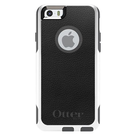 otterbox commuter for iphone 5s se 6 6s 7 plus black leather texture ebay