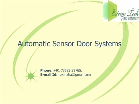 Systems In Business Mba Madras by Automatic Sensor Door Systems In Chennai Coimbatore