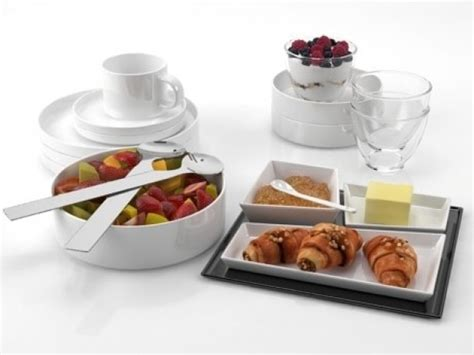 Breakfast Set Breakfast Set 02 3d Model Smallaccents