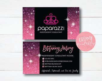 Paparazzi Business Cards Free Personalized Paparazzi Jewelry Paparazzi Business Card Template