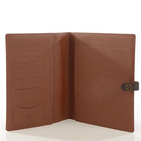 louis vuitton monogram large desk agenda cover 121585