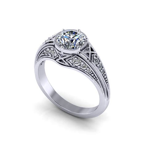 Eheringe Filigran by Vintage Filigree Engagement Ring Home