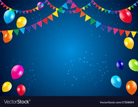 birthday background happy birthday background with flags and vector image