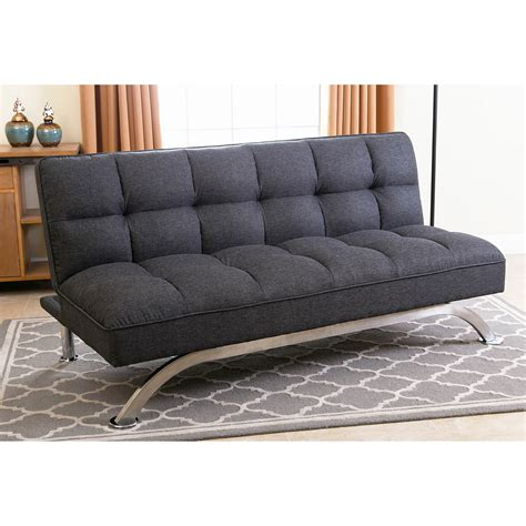 grey click clack sofa bed abbyson living belize click clack sofa gray bj s