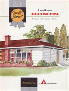 Plans For Ranch Style Homes Weyerhaeuser House Plan Brochures Mid Century Home