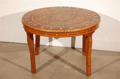 moroccan coffee table inlaid marquetry at 1stdibs
