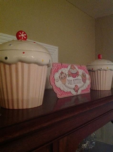 cupcake canisters for kitchen my pink and green cupcake kitchen my pink and green