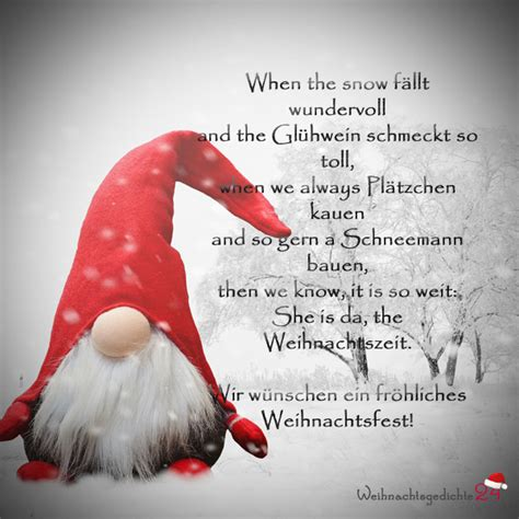 weihnachtsspr 252 che f 252 r die weihnachtskarte