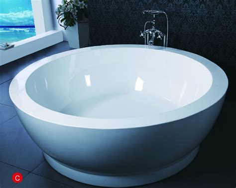 freestanding round bathtub china round shape freestanding bathtub bf 6635 photos pictures made in china com
