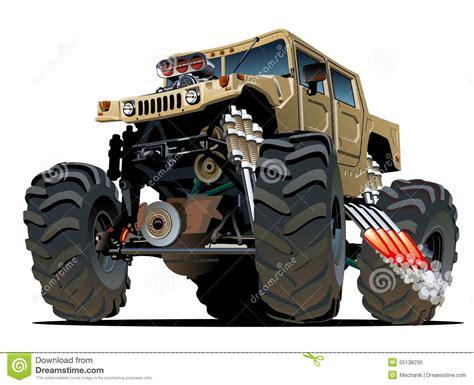 bigfoot monster truck cartoon cartoon monster truck vector illustration cartoondealer