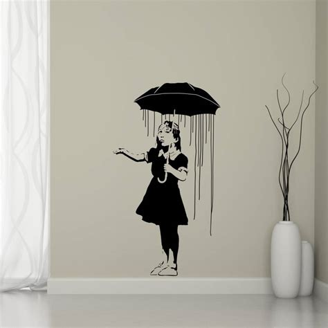 wandtattoo banksy way home banksy wall sticker by mirrorin