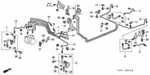 2002 Honda Civic Brake System Diagram 2001 Honda Crv Busted Brake Line Near Abs Controller
