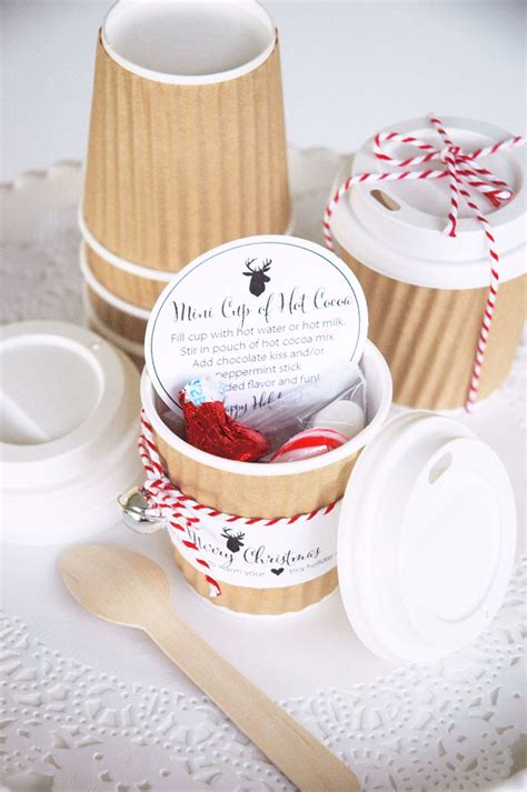 mini hot cocoa cups holiday gift idea the tomkat