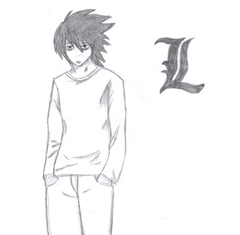 step 2 how to draw chibi l lawliet from note picture