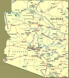 show me a map of arizona show me arizona towns