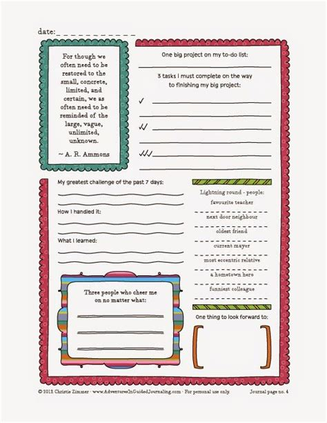 printable journal worksheets print out the journal sheets that you feel are most