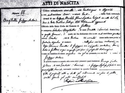 Birth Records Calabria Italy Italian Handwriting