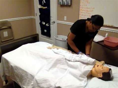 bed bsth cna skill 12 modified bed bath youtube