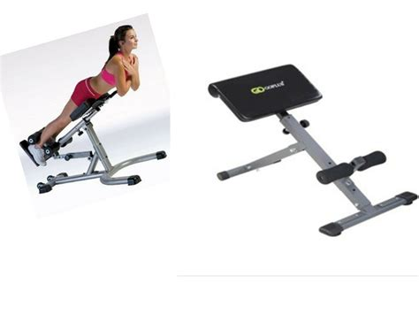 home adjustable ab back bench hyperextension exercise abdominal chair ebay