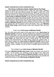Essay On Indira Gandhi by Gandhi Essay Mahatma Gandhi Essay In Mahatma Gandhi Essay Essays About Ayucar