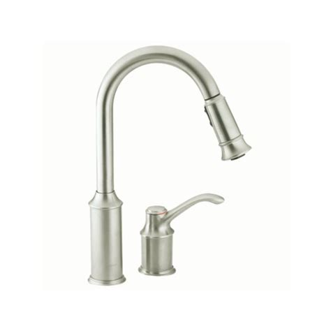 moen aberdeen kitchen faucet moen 7590csl classic stainless single handle pullout spray