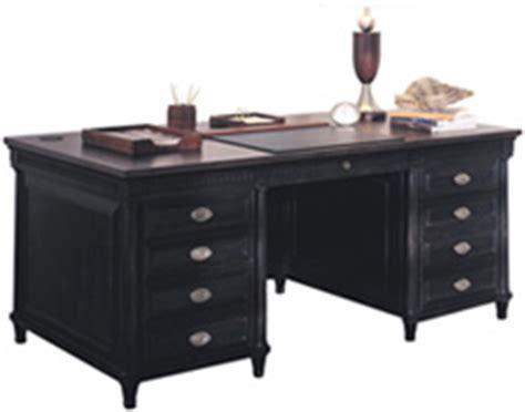 black office desk from refurbished office furniture