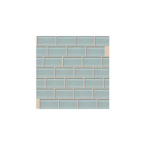 peel and stick subway tile shop american olean 10 pack legacy glass moonlight glass mosaic subway indoor outdoor peel and