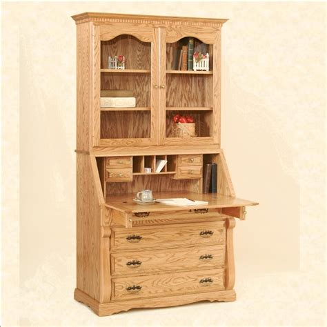 unfinished wood secretary desk traditional secretary desk with hutch