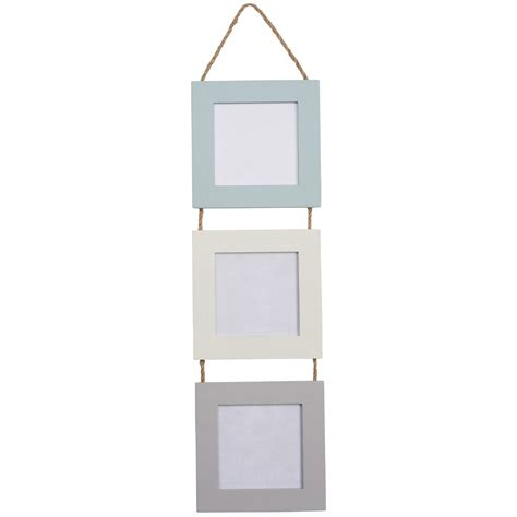 hanging frames triple hanging picture frame 3 colours mint and molly