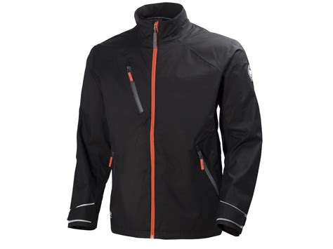 helly tech brugge helly tech 174 skalljakke sort orange proffkl 230 r as