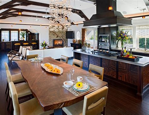 Lighting Design Alliance Raw Natural Goodness 50 Live Edge Dining Tables That Wow