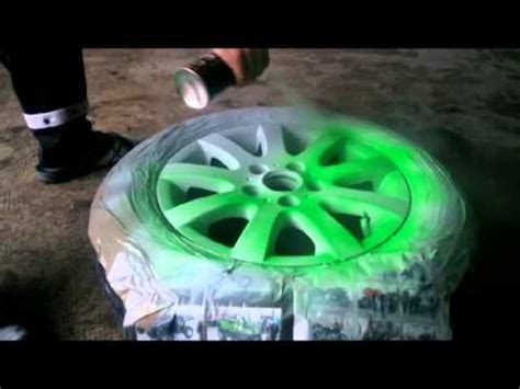 haw to paint wheels green fluorescent