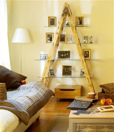 diy livingroom 20 diy ladder shelf ideas creative ways to reuse