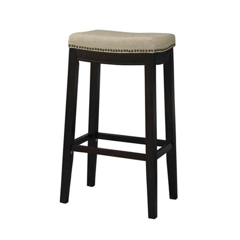 Fabric Upholstered Counter Stools by Linon Fabric Upholstered Top 24 Height Walnut