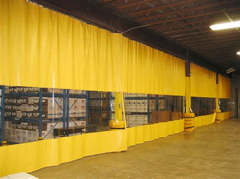 warehouse curtains heat sealed industrial curtains rf welded climate curtains