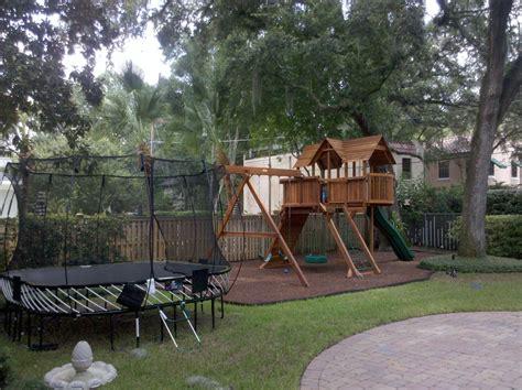 backyard playground mulch everlast rubber mulch home