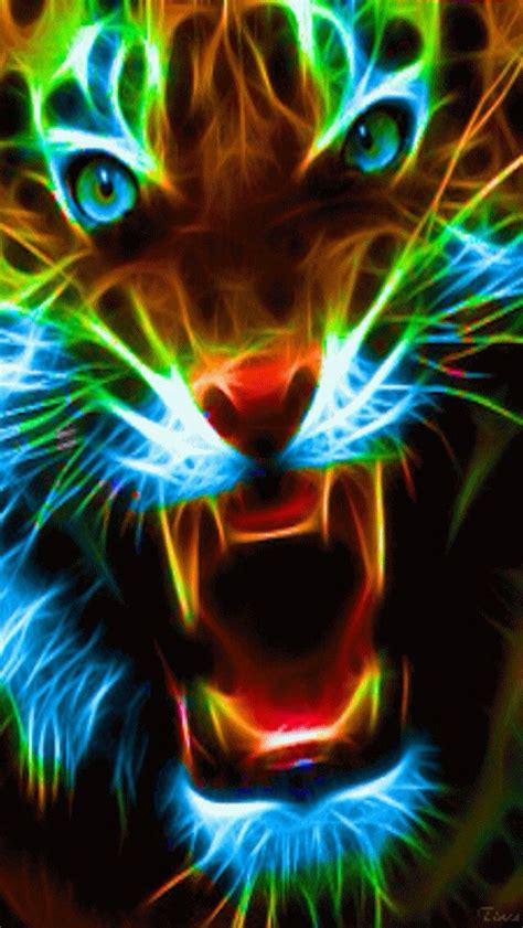 wallpaper iphone neon neon big cat iphone wallpaper background iphone