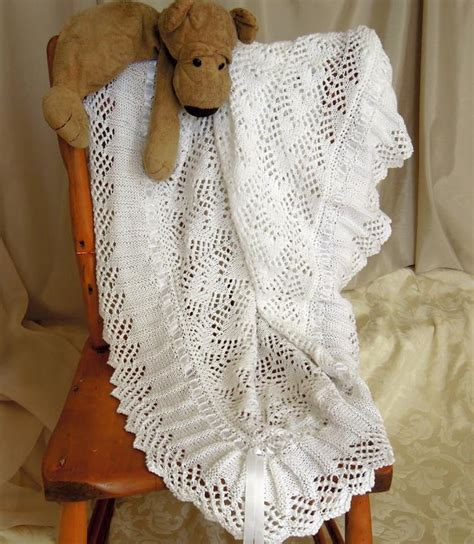 knitting patterns for babies shawls baby blanket sure to become an heirloom by oge designs
