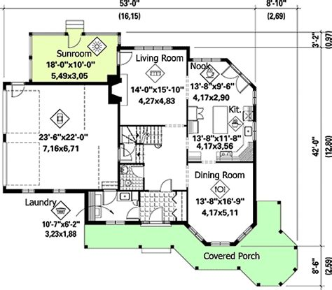 home plan with sunroom 80694pm architectural