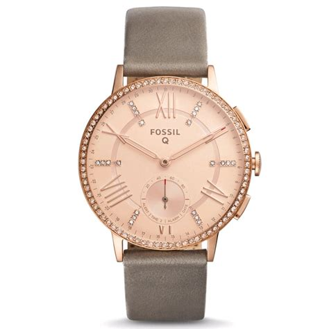 Fossil Fs088 Grey Rosegold fossil q gazer hybrid smartwatch 41mm gold gray leather band prices features